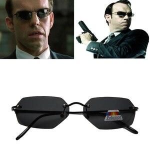2020 moda fajne matryca Neo Style spolaryzowane okulary Ultralight Rimless mężczyźni jazdy marka projekt óculos De So