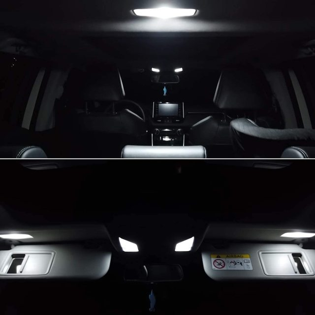 for Toyota Prius 30 XW30 ZVW30 V α 2010~2015 Night Interior Lamps Dome Roof lights LED 4x4 Trunk Reading Lamp White Canbus Bulbs 6