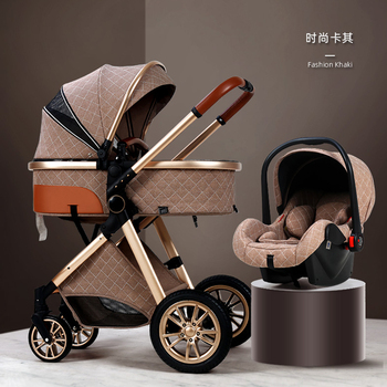 Multi-functional Baby Stroller High landscape Can Sit Reclining Light Folding Two-way Eggshell Design Babies Stroller For Infant stroller can sit reclining light portable simple folding high landscape two way shock baby stroller