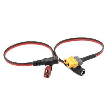 Universal XT60 XT30 T enchufe a DC 5,5/2,1mm hembra adaptador Cable de alimentación para Fatshark Skyzone Aomway gafas