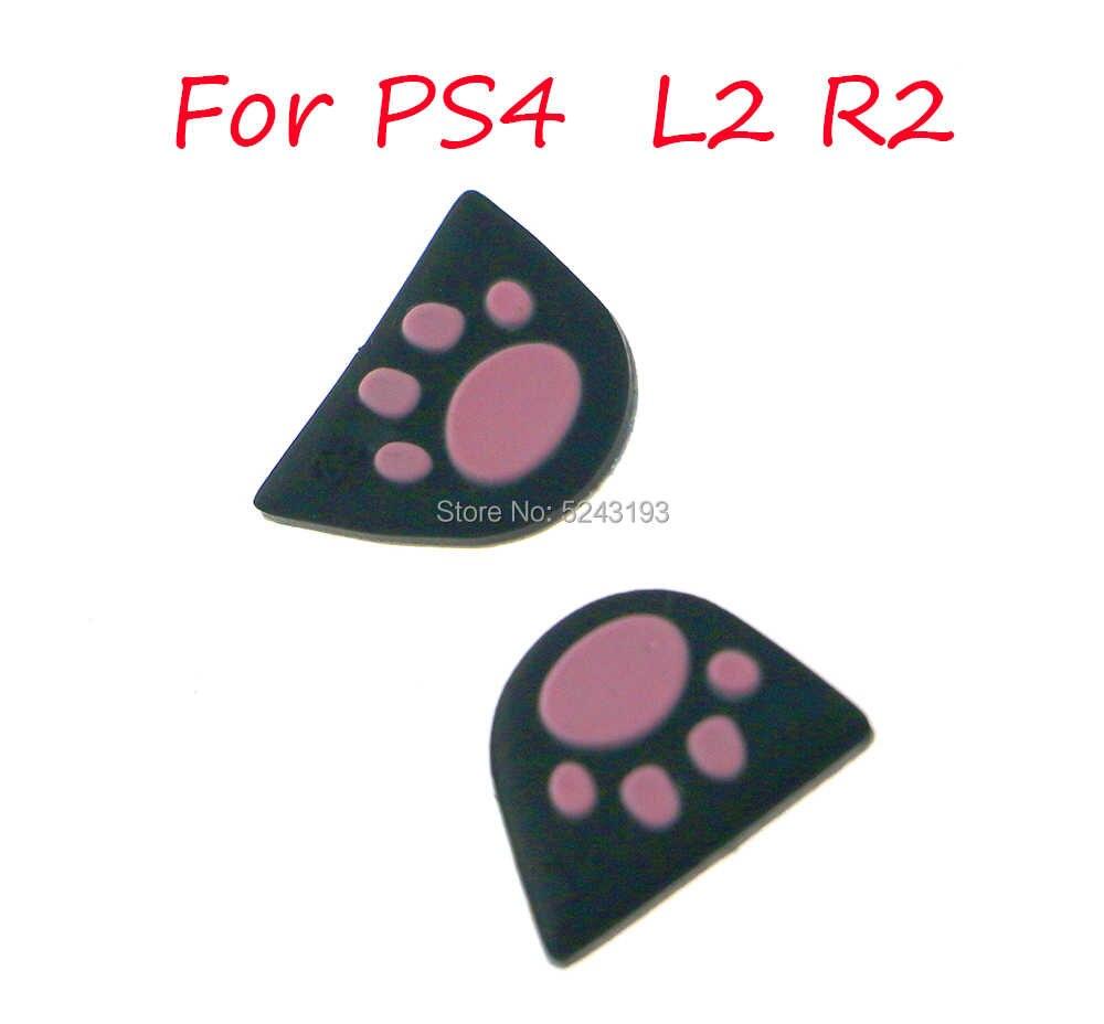 Silikon Kucing L2 R2 Tombol Pemicu Sticker Cover Case untuk Sony PlayStation DualShock 4 DS4 PS4 Pro Slim Controller gamepad