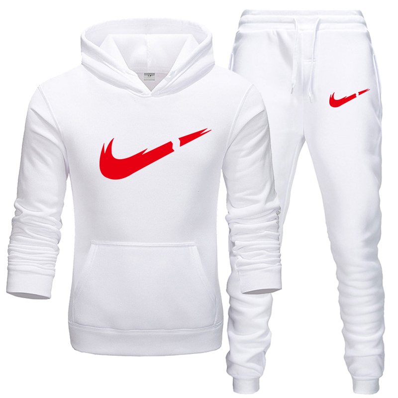 Brand Clothing Men's Casual Sweatshirts Pullover Cotton Men Tracksuit Hoodies Two Piece +Pants Sport Ropa Hombre Sportswear