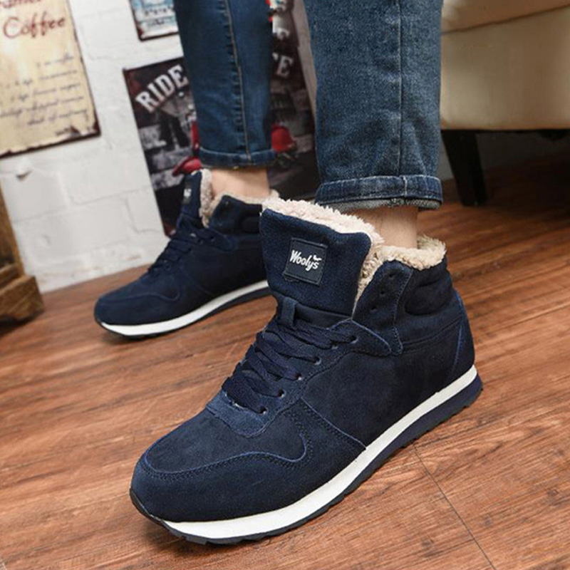 Men Ankle Boots Plush Warm Snow Boots Comfort Winter Shoes Men Boots Men's Sneakers Boots Men 39 S Botas Hombre Plus Size 46 47