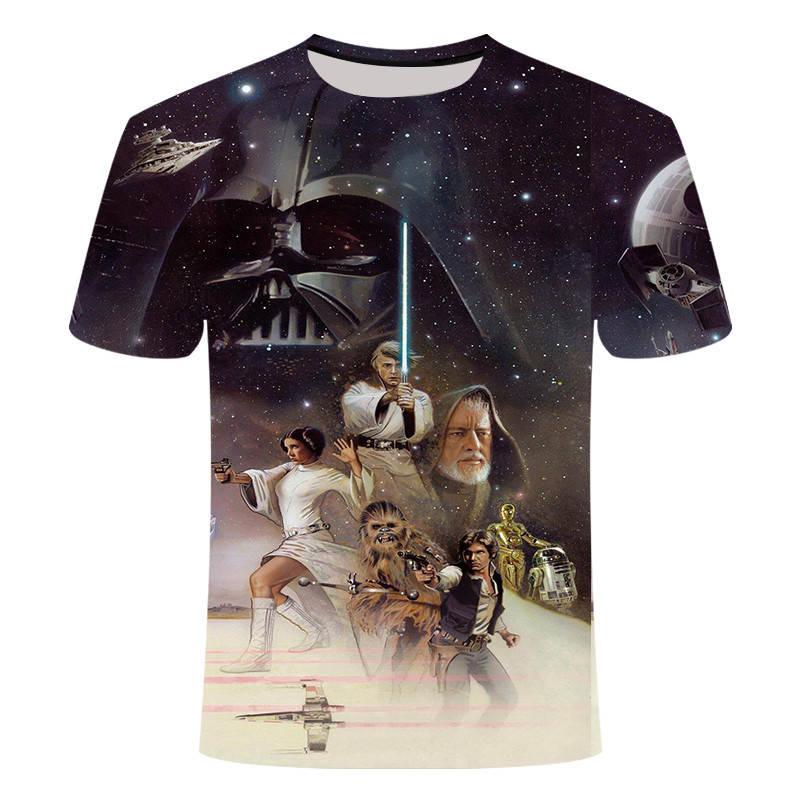 2019 футболка Homme Camisetas Hombre, новинка, Звездные войны, новый робот, мужские футболки, футболки, 3D принт, мужские Забавные футболки, S-5XL