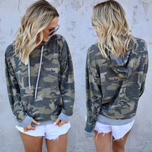 Fashion Women Long Sleeve Sweatshirt Casual Camouflage Print Hoodies Autumn Winter Hooded Pullovers Streetwear
