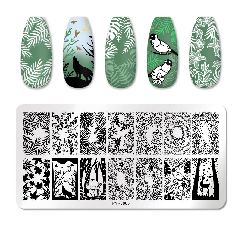 PICT YOU 12*6cm Nail Art Templates Stamping Plate Design Flower Animal Glass Temperature Lace Stamp Templates Plates Image 39