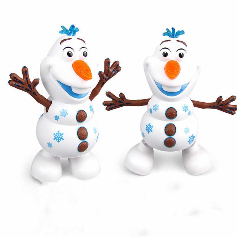 Hot Film Olaf Pvc Action Figuren Spielzeug Elektrische Tanzen Schnee Licht Konzert Singen Hand Tanzen Maschine Schneemann Weihnachten Spielzeug Electronic Pets Aliexpress