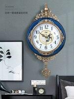 Creative נורדי שעון קיר בציר מתכת שעוני מטוטלת נדנדה סלון קיר שעונים עיצוב בית Duvar Saati מתנה FZ653