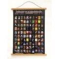 Постер с царапинами Топ 100 аниме ведро СПИСОК подарок без рамки