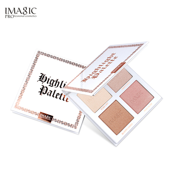 IMAGIC Professional Cosmetics Highlighter Powder Palette Shimmer Face Contour High Gloss Face Bronze Makeup 4 Colors professional charming face highlighter blusher powder pallete beauty natural makeup eyeshadow contour shading powder cosmetics