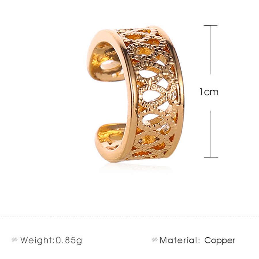 2pcs vazio coração falso brincos para mulheres homens jóias de cobre hélice orelha piercing oreja falso piercing orelha manguito retrátil brincos