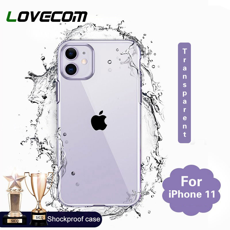 LOVECOM Silicone Phone Case For IPhone 11 Pro Max XR XS Max 6 6S 7 8 Plus X Soft TPU Transparent Phone Back Cover Coque Cases
