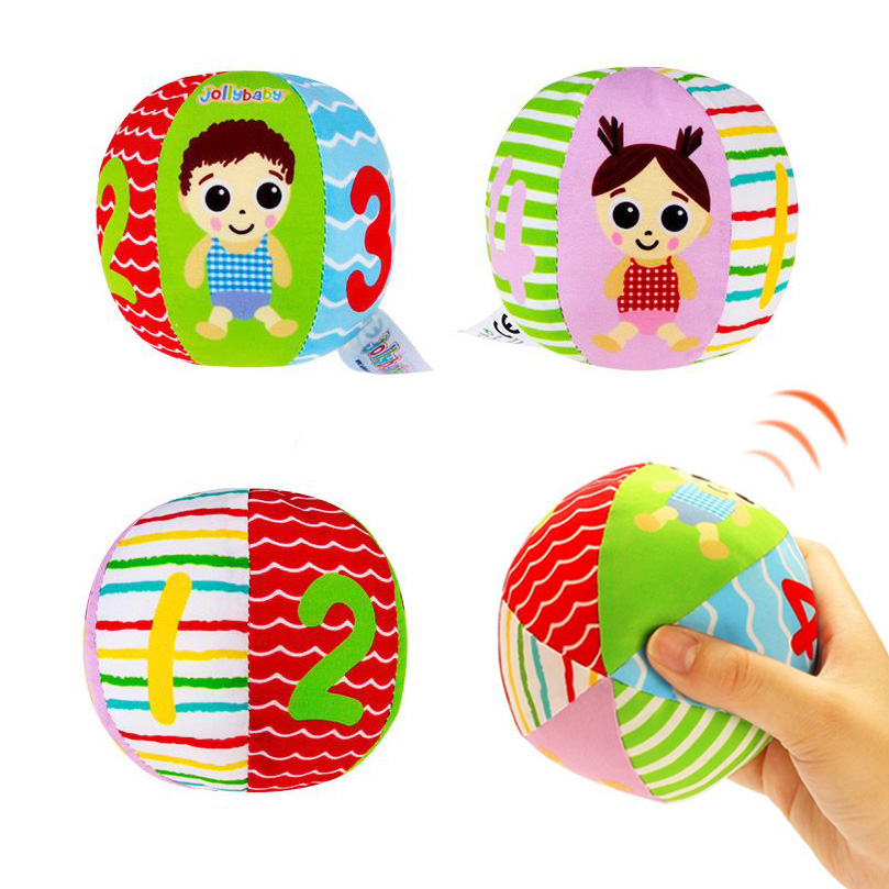 Hot Sale Baby Toys Animal Ball Soft Plush Mobile Toys With Sound Baby Rattle Infant Body Building Ball Toys For 0-12 Months Gift