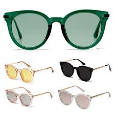 2020 Модные солнцезащитные очки Женские Цветные полуметаллические