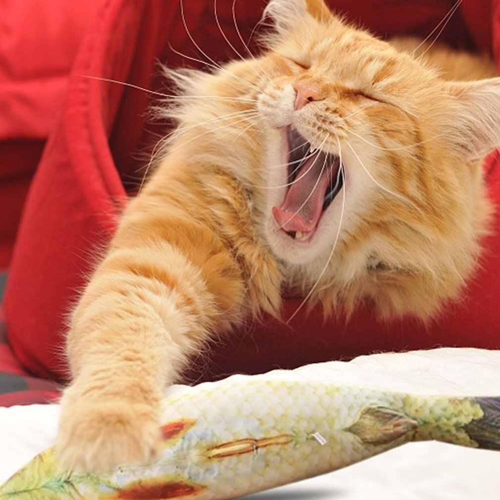 20cm catnip catmint 고양이 호의 시뮬레이션 물고기 고양이 장난감 물고기 모양 긁적 게시물 애완 동물 제품 용품에 대 한 짧은 봉 제 드롭 선박