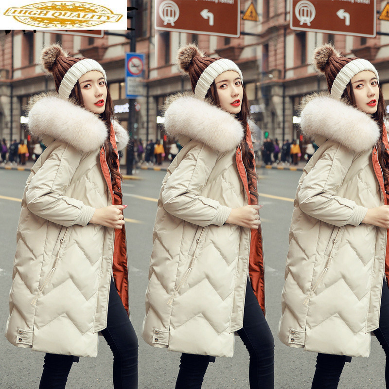 Jacket Women Korean White Duck Down Coat Winter Down Jacket Women Jacket Puffer Jacket Casaco 198024 YY1257
