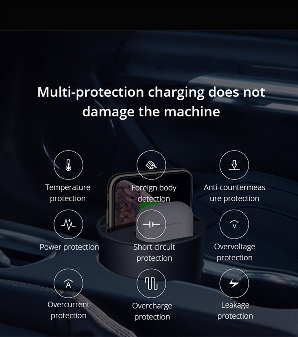 Wireless Charger 3 in 1 For iPhone 11/Pro/Pro Max for Airpods 2th