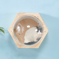 Wall mounted Cat Climbing Frame Cat Tree Hexagonal Space Capsule Cat Wall Play House Cave Kitten Toy Bed DIY Pet Furniture