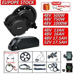 BAFANG Kit 750W/500W/1000W Mid Drive Motor Ebike Conversion Kit with Battery 48V 13AH/16AH/17.5AH 52V 17.5AH 8fun BBSHD BBS02(China)