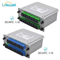 10pcs/Lot SC APC UPC PLC 1X16 Fiber Optic FTTH Splitter Box PLC Insert sheet Type Fiber Optical Coupler Splitter Insertion 1:16