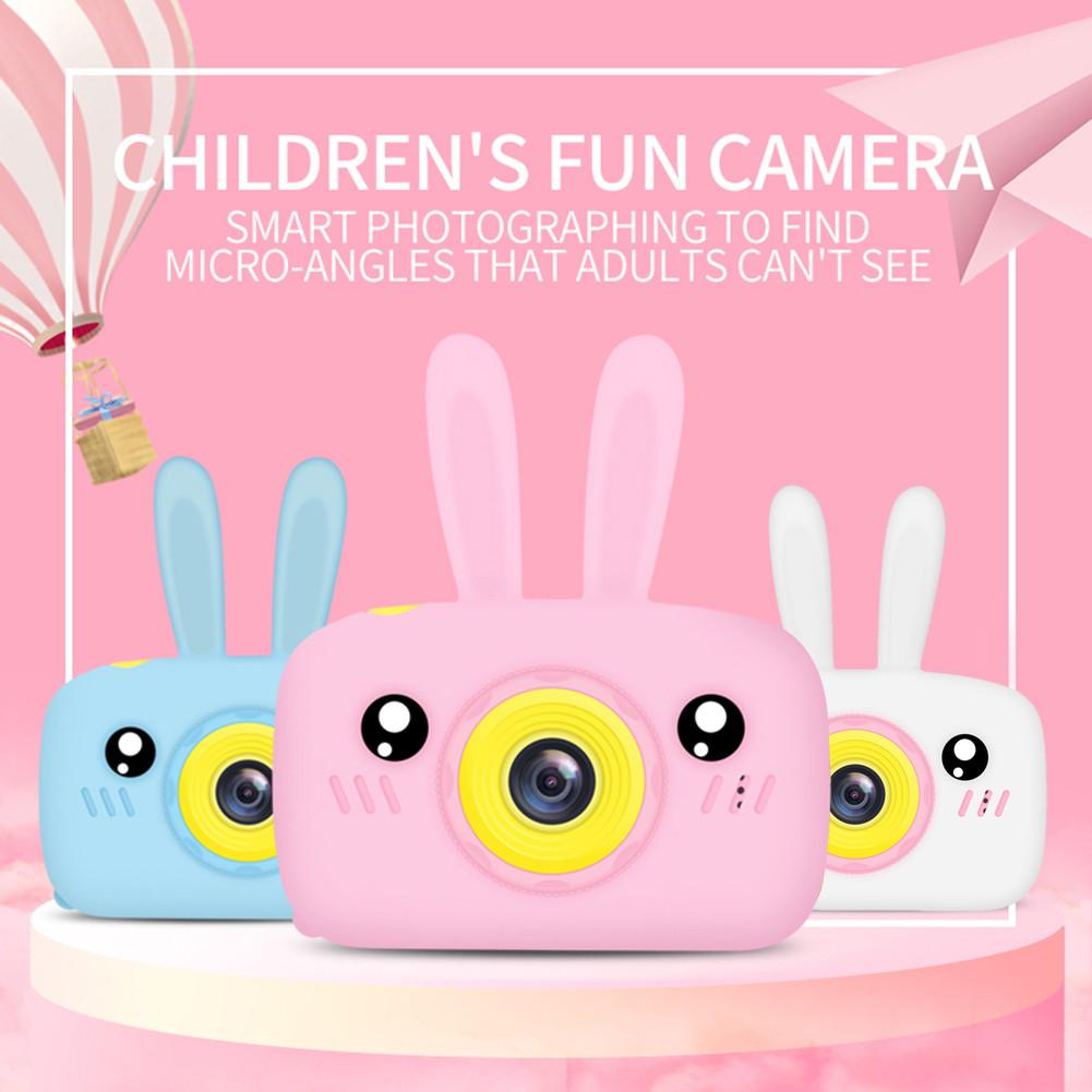 12MP Mini Children Camera Toy Digital Video Camera Model With Rabbit Pattern Silicone Case Christmas New Year Gift