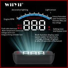 GEYIREN HUD M6s head up display Überdrehzahl Warnung Windschutzscheibe Projektor auf board OBD scanner Mit Objektiv Haube Universal Auto HUD