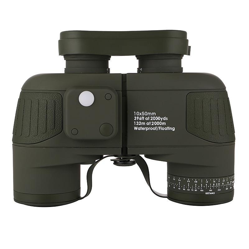 Image 2 - 10x50 Binoculars Nautical Compass Waterproof Telescope with Night Vision HD Professional Optical Telescope Military Standard-in Monocular/Binoculars from Sports & Entertainment