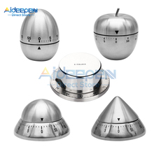 Stainless Steel Kitchen Timer Manual Mechanical Cooking Egg Alarm Clock Timer Countdown Cooking Tools Kitchen Gadgets