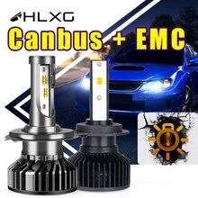 Turbo H7 LED Canbus H4 H11 Car Headlight Bulbs H8 HB4 HB3 9005 9006 20000LM lamp Fog lights Motorcycle No Error 6000K 12V HLXG