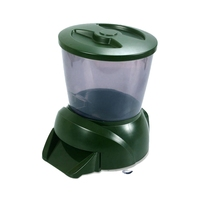 HLZS Lcd Digital 4.25L Auto Pond Fish Feeder with Programmable Automatic Dispenser Food Timer Large Capacity