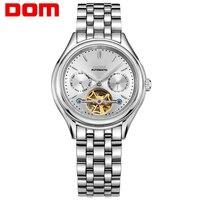 Dom relógios dos homens da marca superior de luxo relógio mecânico de aço inoxidável à prova dwaterproof água esporte relógio de pulso relogio M-815D-7M