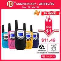 RETEVIS RT388 Walkie Talkie Kinder 2 stücke Zwei-weg Radio PMR PMR446 Radio Comunicador VOX Taschenlampe Fünf Farben Spielzeug walkie Talkie