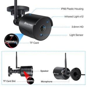 Image 3 - Techage wifi IP caméra extérieure 1080P étanche 2.0MP sans fil caméra de sécurité deux voies audio TF carte enregistrement Onvif Surveillance