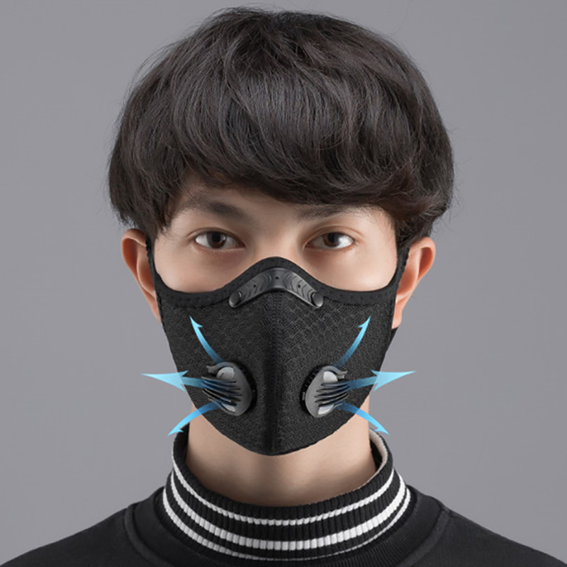 Cycling Face Mask Filter KN95 Anit-fog Breathable Dustproof Bicycle Respirator Sports Protection Dust PM 2.5 Mask Anti-droplet