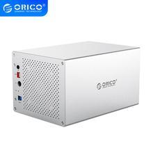 ORICO WS Series 3.5 ''5 Bay USB3.0 do SATA3.0 z RAID obudowa HDD aluminiowa stacja dokująca HDD obsługuje UASP 5*10TB obudowa HDD