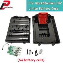 Bateria de plástico para ferramenta de bicicleta, capa preta e decalque de 18v li-lion (sem células de bateria) capa escudo a18 a1718 hpb18 hpb18