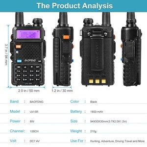 Image 5 - BaoFeng UV 5R iki yönlü radyo gerçek 8W 10KM 128CH çift bant VHF(136 174MHz)UHF(400 520MHz) amatör amatör el telsizi