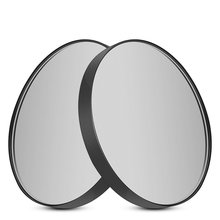 5 Times 10 Times Magnifying Glass Small Round Mirror with Suction Cup Makeup Mirror 8.8cm Diameter Handheld Magnifier