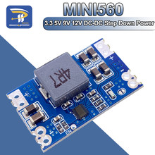 Saída 3.3V 5 PÇS/LOTE 5V 9V 12V 5A DC-DC mini560 Step Down Converter Voltage Regulator Buck Módulo de Alimentação Estabilizada