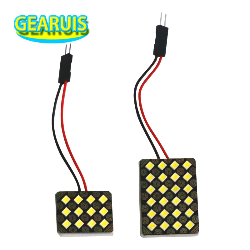 100set Car Vehicle Interior lights Dome Panel LED Lamp <font><b>12</b></font> 24 <font><b>SMD</b></font> <font><b>2835</b></font> 0.5W LED 0.12A 0.24A Reading Lamp Map Roof Lights B image