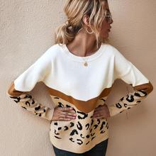 2020 Fashion Leopard Women sweter jesienno-zimowa damska O-Neck z pełnym rękawem sweter w stylu Casual z dzianiny damskie pulowery Oversize tanie tanio Saiqigui Poliester CN (pochodzenie) Zima Polyester Komputery dzianiny REGULAR Osób w wieku 18-35 lat Swetry 20714-15 5-45