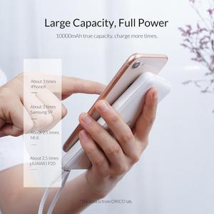 Image 3 - ORICO 10000mAh Power Bank Slim Thin Portable External Battery Charge for Xiaomi Mobile Phone USB Type C Powerbank