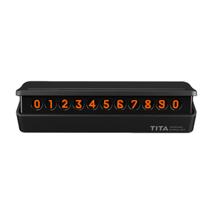 Image 5 - Xiaomi TITA بطاقة وقوف السيارات المغناطيسية ، ملصق رقم الهاتف الفلوري للسيارة ، ستيريو عكسي غير مرئي