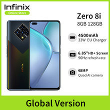 Versão global infinix zero 8i 8gb 128gb telefone móvel 6.85 fffhd 90hz tela cheia 48mp quad câmera 4500mah bateria 33w carregador