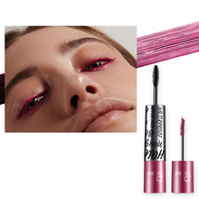 Pudaier 4d double-headed color ultra-fine mascara backing fiber curling ultra-fine mascara Amazon explosions