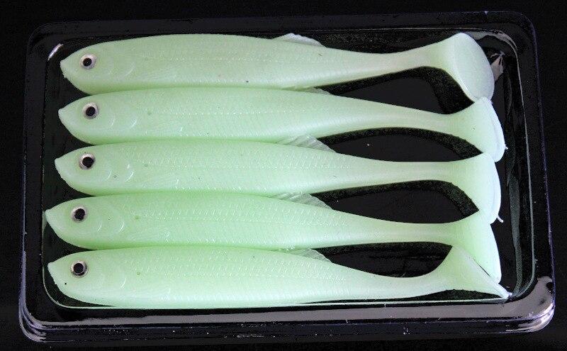 Mandarin Fish Set T Tail White Fish Lure Soft Bait Soft Worm Bionic Lure Topmouth Culter|Floodlights| |  - title=