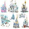 2021 New Disney Mickey Minnie Aisha Princess Castle Model Set Building Block Assembly giocattoli regalo di compleanno per bambini ragazzo e ragazza