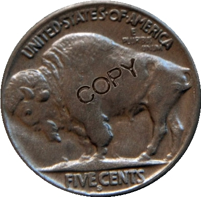 США 1916 P, D, S с гравировкой в виде американского бизона из никеля копии монет