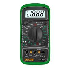 Aneng an8205c profissão multímetro digital ac/d c amperímetro volt ohm tester medidor multimetro com termopar lcd backlight