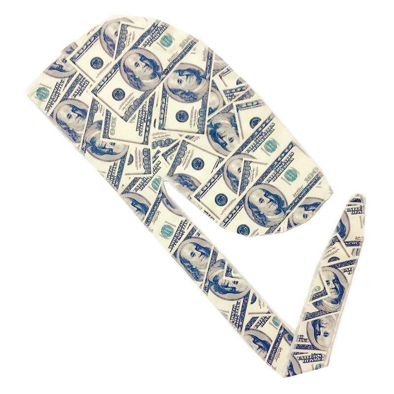 Wholesale Custom Durag With Logo 100%Polyester Silk Silky Du Rag Soft Designer Durags Durag For Men
